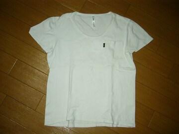 グラムglambカットソー2白ストレッチ系ポケTシャツ