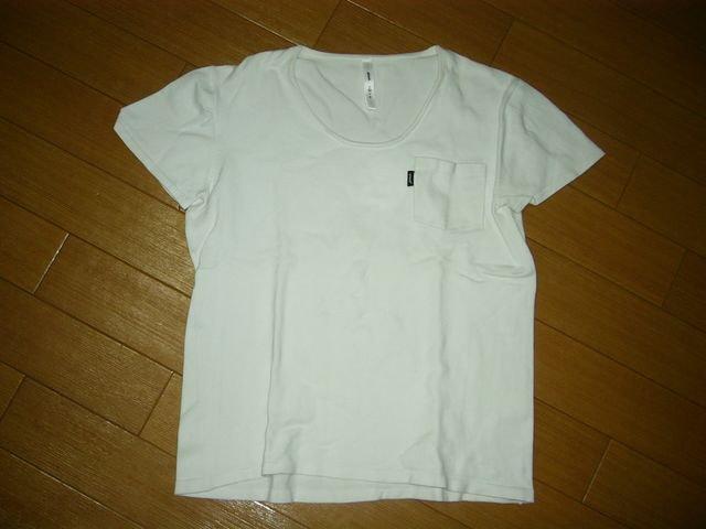 グラムglambカットソー2白ストレッチ系ポケTシャツ  < ブランドの