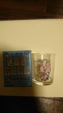 BT21 一番くじ I賞にぎやかグラス COOKY