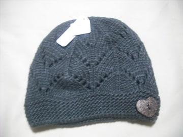 wb179 女 BILLABONG ビラボン ニット帽 グレー