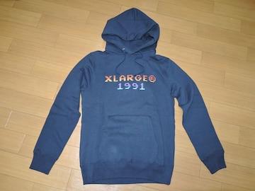 新品エクストララージXLARGEスウェットパーカーS紺ロゴ1991