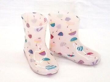 モンフレール レインブーツ 7008 18.0cm かさピンク 可愛い 長靴