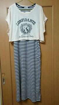 アースミュージック&エコロジー ロングワンピース(ショートTシャツ付き)