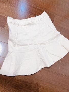 美脚魅♪おフェロマーメイドミニスカート♪タイトミニ♪ホワイト