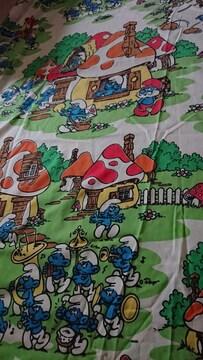 スマーフ フィットシーツ ビンテージ キャラクター 約190×140