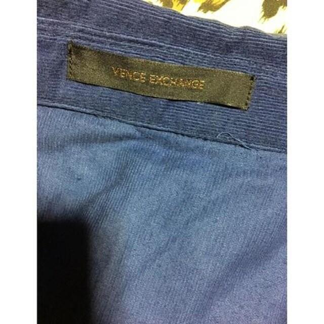 【VENCE EXCHANGE】美品★流行コーデュロイシャツ★ネイビー紺M < ブランドの