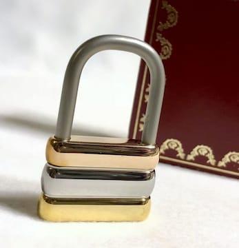 正規美 Cartierカルティエ トリニティ キーホルダー PG×WG×YG 3カラーゴールド カデナ