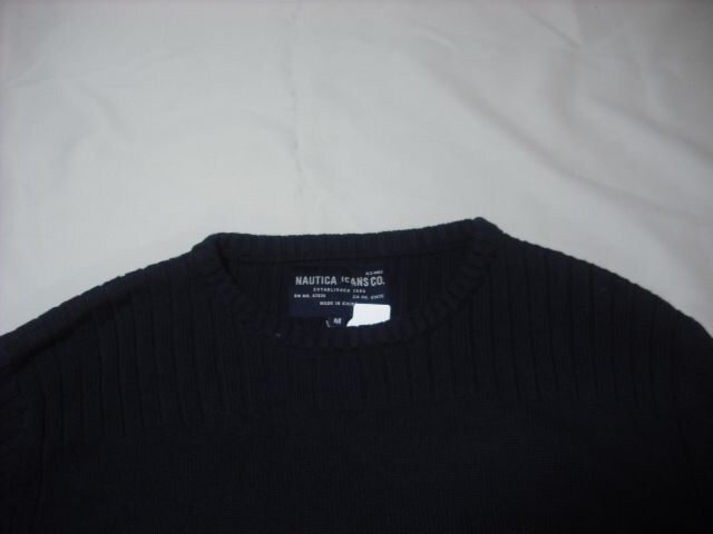 19 男 NAUTICA ノーティカ 紺 セーター M < ブランドの