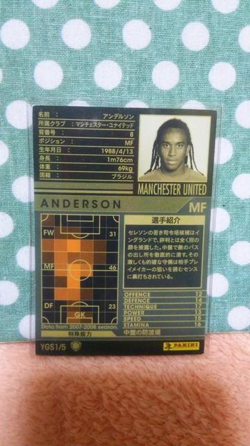 0708 YGS アンデルソン < トレーディングカードの