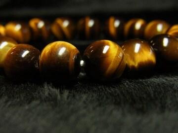 大人気 タイガーアイブレスレット 虎目石10ミリ数珠パワーストーン