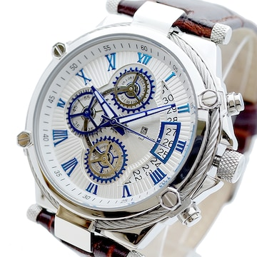 サルバトーレマーラ クォーツ 腕時計 メンズ SM18102-SSWH