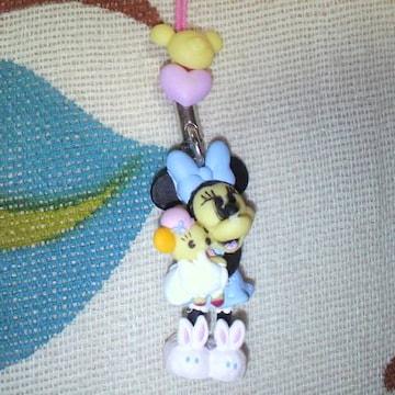 ディズニーミニーマウス うさぎスリッパ ストラップ