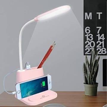 LEDデスクライト 多機能充電式ライト ペンホルダー&スマホスタ