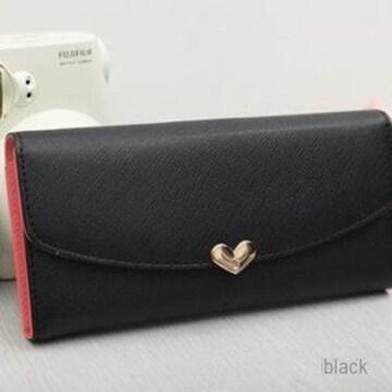 ブラック 財布 レディース 多機能 ギャルソン ホワイトデー