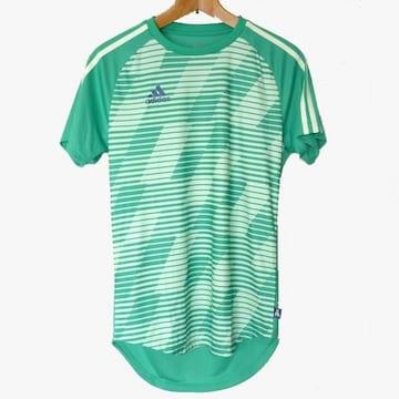 新品●送料無料◆adidas 緑TANGO CAGEプラクティスTシャツ(M)
