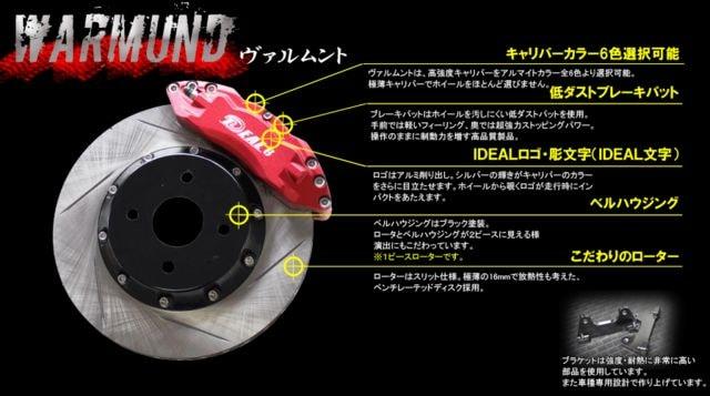 IDEAL WARMUNDヴァルムント L150/160S ムーヴ ブレーキキット < 自動車/バイク