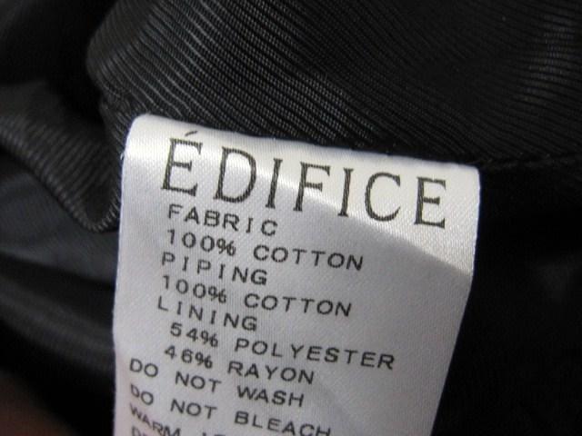 □EDIFICE/エデフィス ケーブル編み ニットベスト/メンズ・40☆人気完売商品 < ブランドの