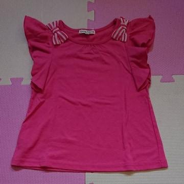 anyFAM☆袖フリルのTシャツ☆size110