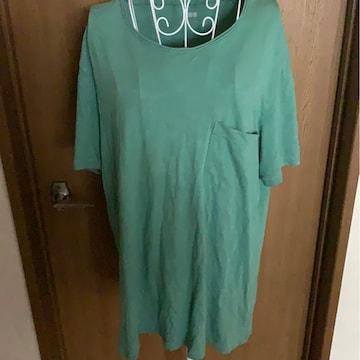 UNIQLO★グリーン★シンプルTシャツ★サイズ  XL