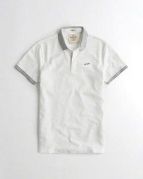 1738 ホリスター メンズ ポロシャツ ホワイト M
