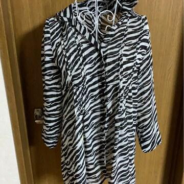 ゼブラ柄★ゆったりシャツ☆デザイン★サイズM