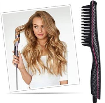 ★送料無料★ つやさら ブラシ型 ヘアアイロン 髪に優しい