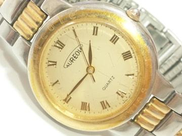 11870/AUREOLEオレオーレ★高級コンビ仕様モデルローマン数字メンズ腕時計
