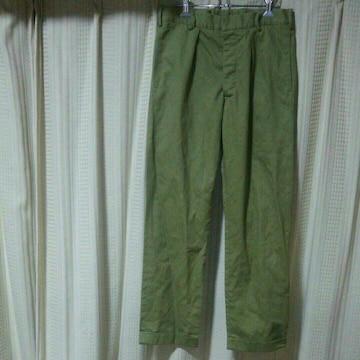 コーディングスcordings タックパンツサイズ30薄緑カーキグリーンイギリス製英国製中古