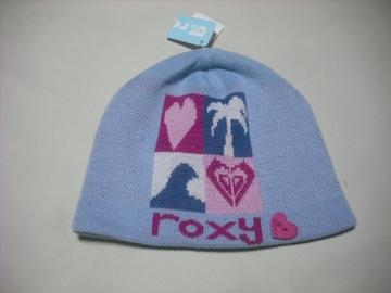 wb745 ROXY ロキシー ニット帽 ビーニー 青