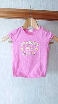 Cherry pie ピンク ラメ ロゴ Tシャツ 95