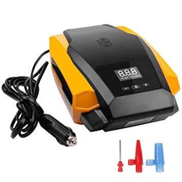 イエロー エアコンプレッサー HCL デジタル表示 自動停止 小