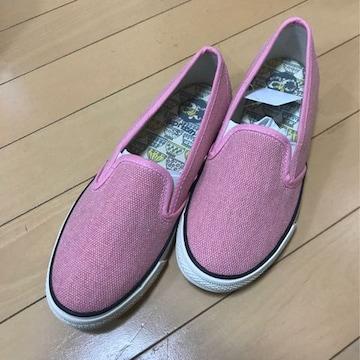 新品◆スリッポンスニーカー◆S22.0〜22.5◆ピンク
