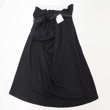 Y's ワイズ ヨウジヤマモト シルク ニット ラップ ロング スカート 巾着