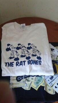 柳家睦&THE RAT BONES Tシャツ�峠イコビリーアウトローフォーククリームソーダロカビリー