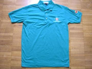 即決USA古着ワンポイントロゴ半袖ポロシャツ!アメカジ