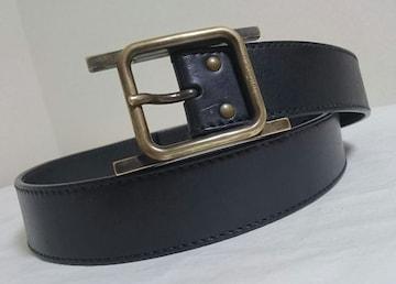 正規美 Dior Hommeディオールオム Hバックルベルト黒 ゴールド 95 約92~102�p