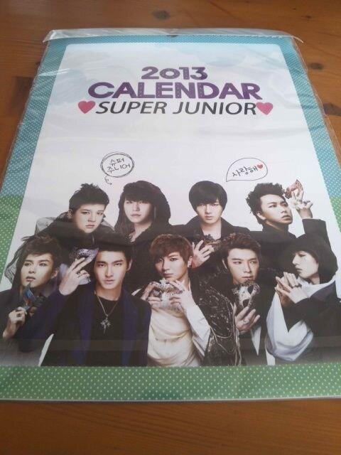 SUPER JUNIOR/スーパージュニア/2013年壁掛けカレンダー/新品&未開封/ < タレントグッズの