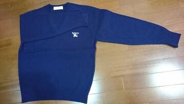 【美品!!】バーバリー紺のセーター
