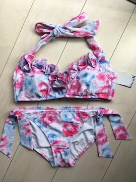 新品タグ付 リップサービス 花柄 フラワー フリル ビキニ 水着 ピンク