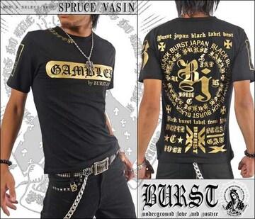 メール便送料無料【MAD BURST JAPAN】70536Tシャツ黒金M