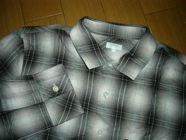 新品 ビームスBEAMSラメチェックシャツM長袖 < ブランドの
