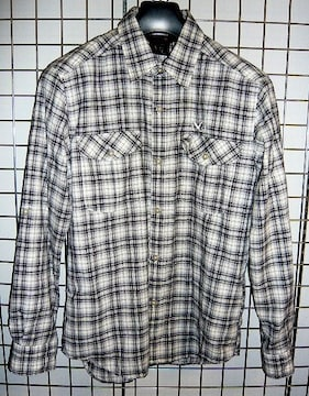 MILLET‐ミレー チェックシャツ S BLACK/NATURAL 美品