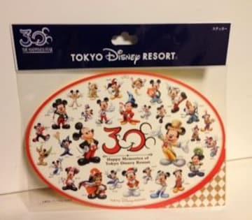 TDL☆30周年 ステッカー シール ミッキー ディズニーリゾート
