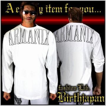やくざブランドARMANIXロンT/オラオラ系ヤンキー服/白L