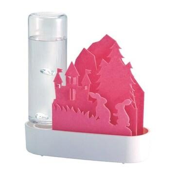 自然気化式ECO加湿器 うるおいちいさな森 ピンク