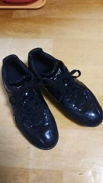 ★asIcs アシックス スポーツ シューズ 靴 ブラック 23.5�a 黒 スタイリッシュ★