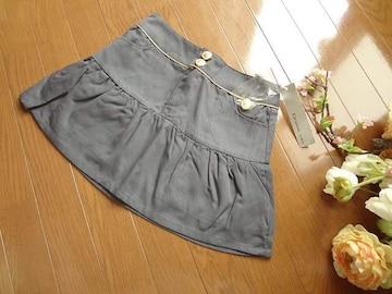 新品Dress upミニスカート灰グレーSフレア スカート ミニ