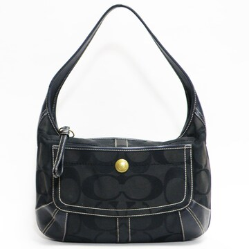 COACHコーチ ハンドバッグ シグネチャー 黒11290良品 正規品
