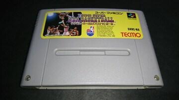 SFC テクモスーパーNBAバスケットボール / スーパーファミコン 難あり(接触難)