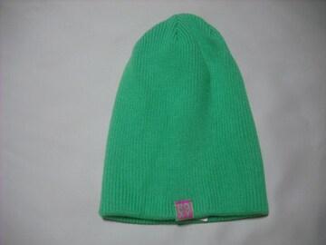 wb718 ROXY ロキシー ニット帽 ビーニー 緑